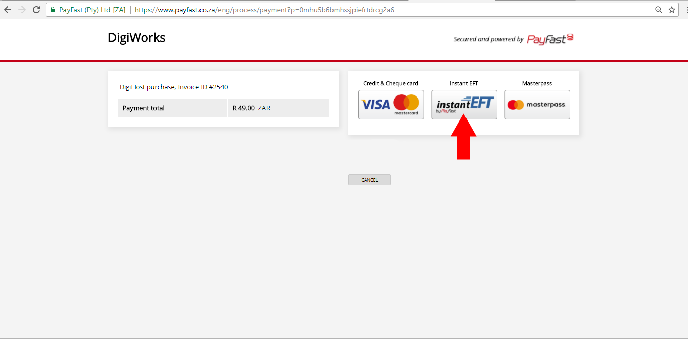Payfast payment 4